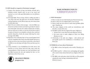 A Basic Introduction to Christianity